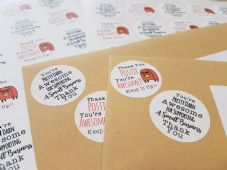 Thank You Postie PLUS You're Awesome Mixed Sheet - 37mm Round Paper Five for Five